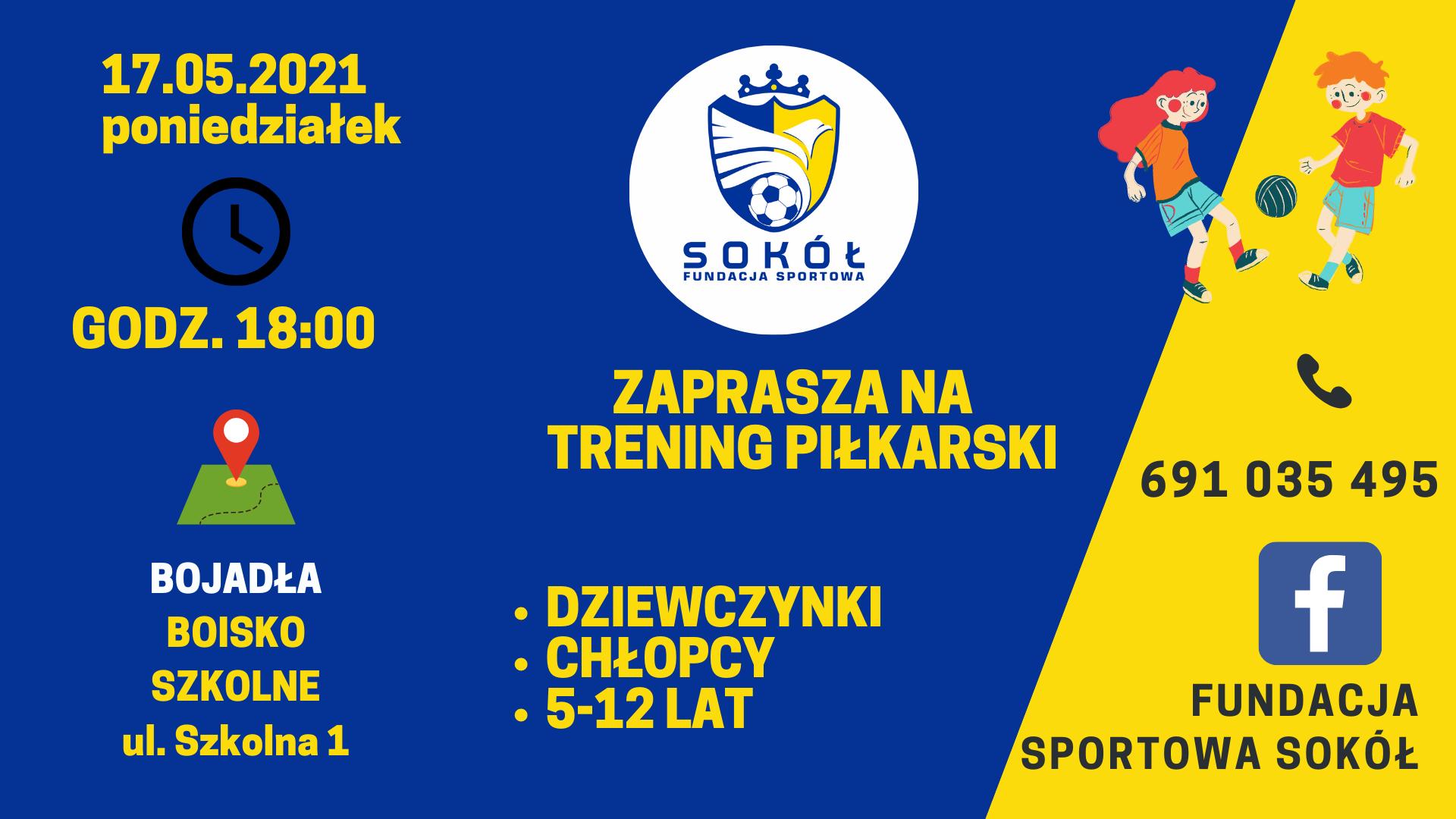 Ilustracja do informacji: Zajęcia Piłkarskie z Fundacją Sportową Sokół