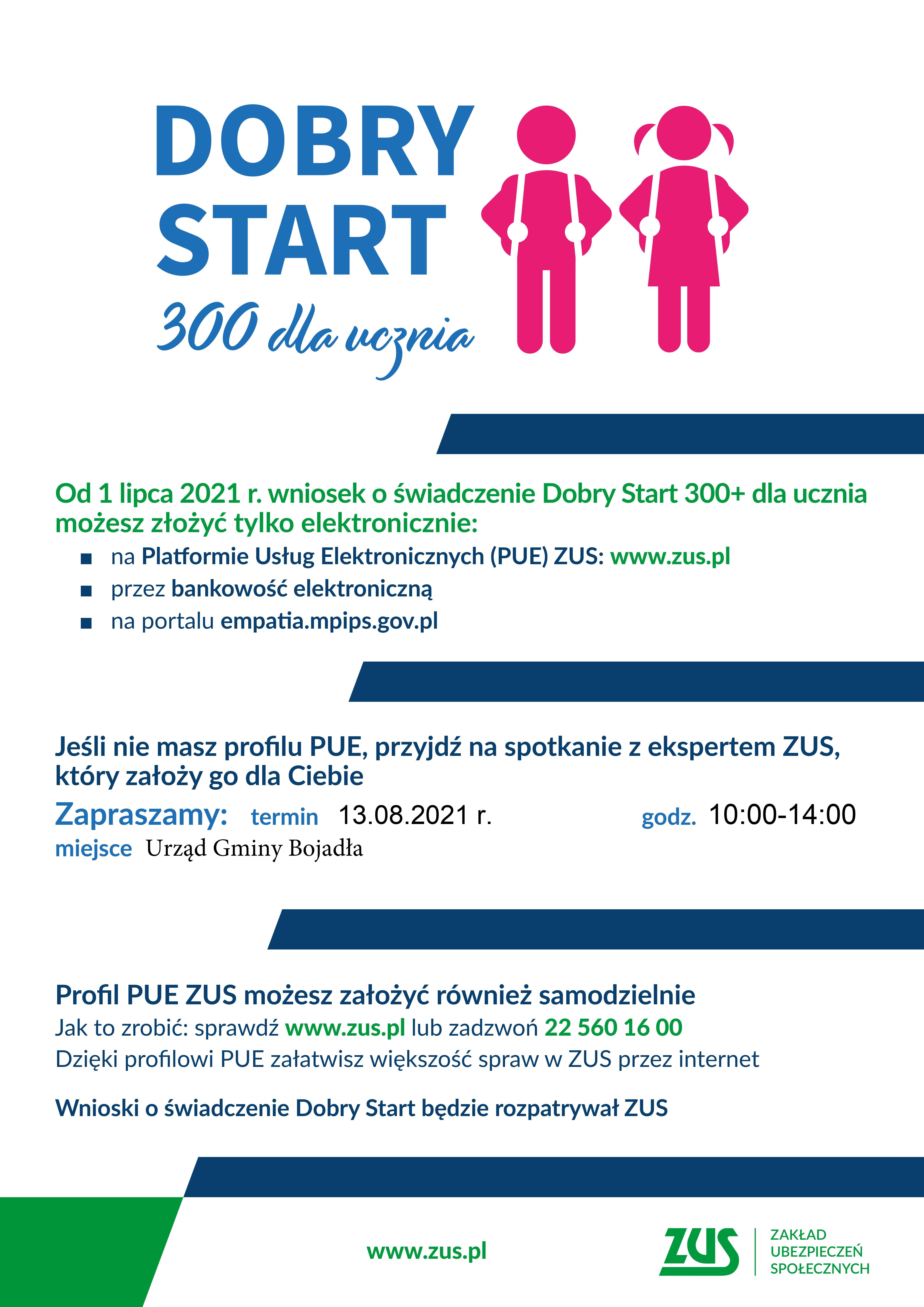 Ilustracja do informacji: DOBRY START 300 dla ucznia