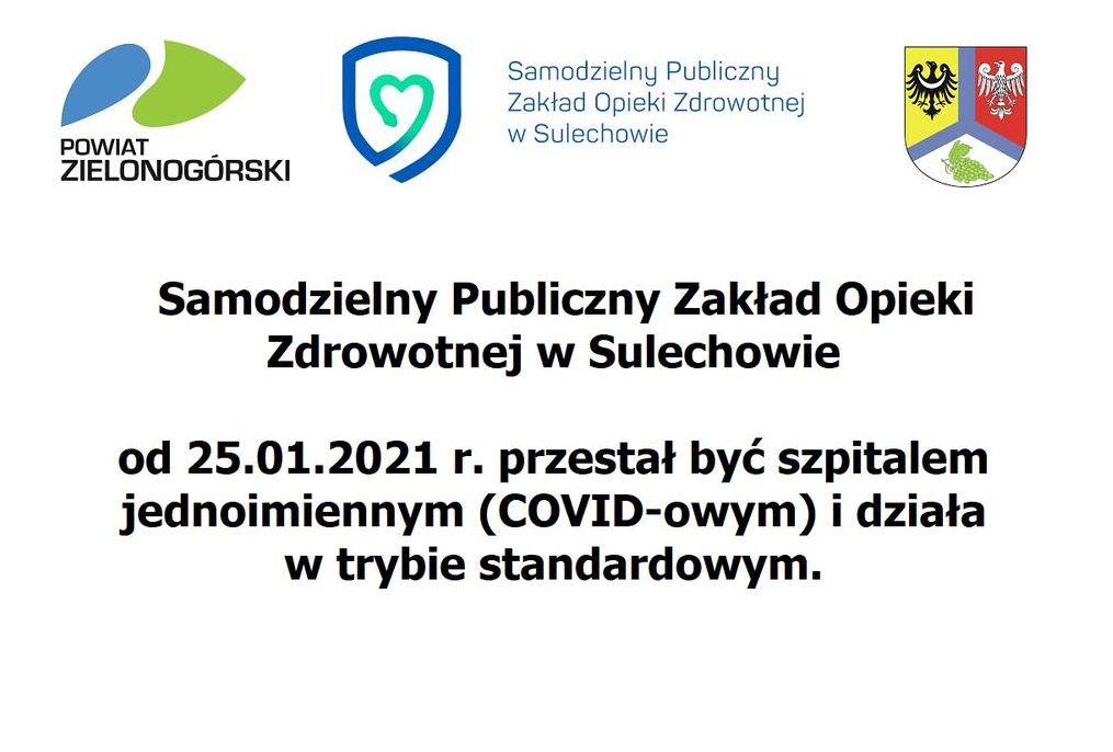 Ilustracja do informacji: SP ZOZ w Sulechowie ponownie przyjmuje wszystkich pacjentów