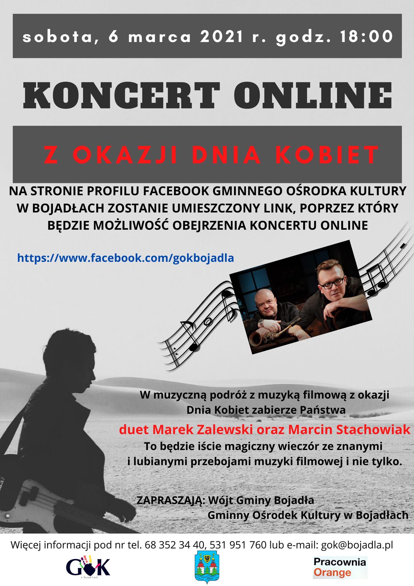 Ilustracja do informacji: Zapraszamy na koncert online